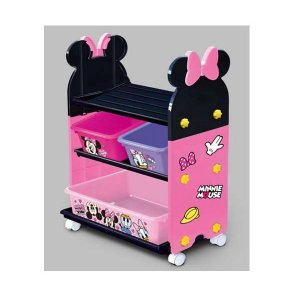 ギフト包装不可 ミニーマウストイステーション おもちゃ箱 錦化成 nishiki kasei 女の子 Disney バケツ 収納 おかたづけ 物入れ 家具 子供用 人気商品|716baby