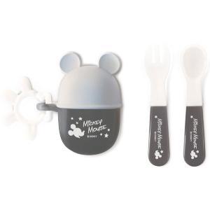 錦化成 NEW ミッキーマウス スプーン&フォーク  GR 食器 携帯用  子供用 幼児用 おでかけ 旅行 ディズニー|716baby