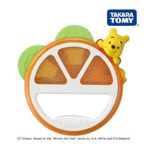 ガラガラ ラトル Dear Little Hands オレンジタンバリン くまのプーさん DLH タカラトミー おもちゃ 赤ちゃん ベビー baby ギフト プレゼント ベビートイ|716baby