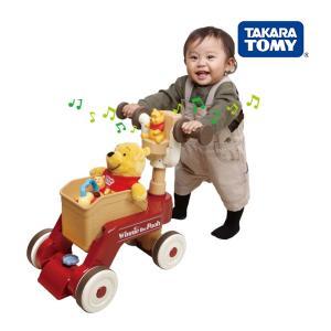 くまのプーさん おしゃべりウォーカーライダー タカラトミー Takara Tomy 乗用 三輪車 押し車 遊具 おもちゃ 誕生日プレゼント 出産祝い 知育