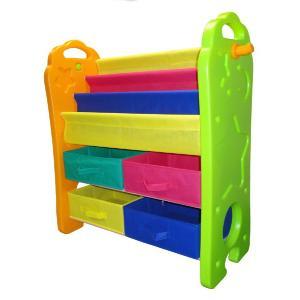 703 ブックシェルフおもちゃ箱 パピー おもちゃ箱 おかたづけ お片づけ 室内 こども キッズ 絵本ラック|716baby