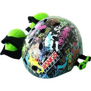 ラングス ジュニアスポーツヘルメット プロテクターセット付 ブラック RANGS JAPAN ラングスジャパン 肘あて 膝あて ペダルなし自転車 スクーター ママ|716baby