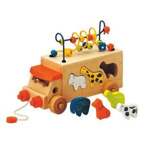 アニマルビーズバス エドインター Ed.Inter 木製玩具 木のおもちゃ toys ギフト パズル...