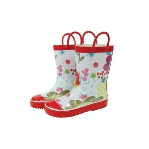 レインブーツ rain boots ブルーミングフラワー G55471 【Mサイズ 16cm】 ルミカ lumica マメールマディ 雨具 雑貨 長靴 くつ|716baby