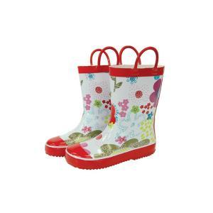 レインブーツ rain boots ブルーミングフラワー G55472 【Lサイズ 18cm】 ルミカ lumica マメールマディ 雨具 雑貨 長靴 くつ|716baby