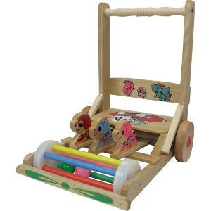 【日本製】 押車 03 ハンドカー 前川木工 手押し車 安心 国産 天然木 木製 歩行器 ウォーカー 乗用玩具 手押車 おもちゃ toys 出産祝い 誕生日 子供 クリスマス|716baby