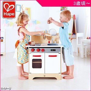 ままごと Hape ハペ E3152 はじめてのキッチン おもちゃ 木製玩具 ごっこ遊び 女の子 男の子 誕生日 ギフト プレゼント ママ 子育て 一部地域 送料無料|716baby