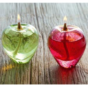 オイルランプ 津軽びいどろオイルランプ 赤りんご 青りんご 「即納」 津軽 びいどろ オイル ランプ インテリア