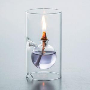 オイルランプ ガラスランプ テーブルランプ ランプ オイル ルナックス クール・クリア 間接照明 寝室 OLC-06 シリンダー おしゃれ 雑貨