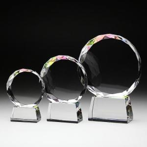 クリスタル位牌台座付きラウンド中|7colors-glassart
