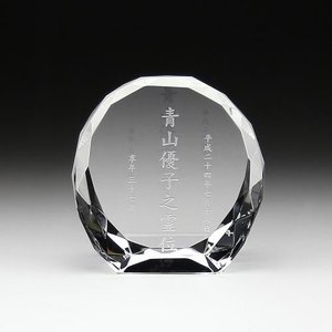 クリスタル位牌ダイヤカット型大|7colors-glassart