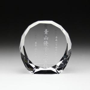 クリスタル位牌ダイヤカット型中|7colors-glassart