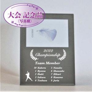 ミラー フォトフレーム 名入れ彫刻写真立て 大会記念品 卒業記念品 トロフィー 7colors-glassart