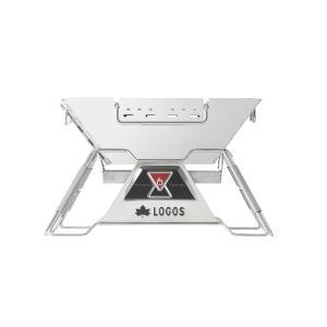 LOGOS/ロゴス LOGOS the ピラミッドTAKIBI M ゴトク付きで料理も楽しめる本格焚火台 タキビ 組み立て10秒でコンパクト収納 串焼きプレート付き(送料無料) 7dials 02
