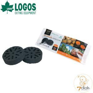 LOGOS/ロゴス エコココロゴス・ラウンドストーブ2 即着火できるエコな炭 1個で約30分燃焼 エ...