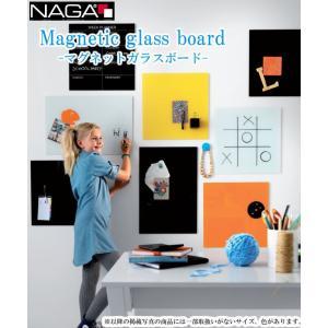 ナガ マグネットガラスボード45×45cm NAGA magnetic glass board ガラス素材のボードでマグネット留めも可能!マーカーも付属でメッセージボードにも!|7dials|04