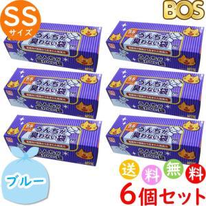 うんちが臭わない袋 BOS ボス ペット用 SS サイズ 200枚入 6個セット 防臭袋 猫用 トイ...