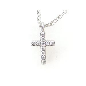 ティファニー メトロクロスミニ ダイヤモンドネックレス K18WG(18金 ホワイトゴールド) 質屋出品|7saito