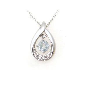 ヨンドシー 水色石ダイヤモンドネックレス K18WG(18金 ホワイトゴールド) 質屋出品|7saito