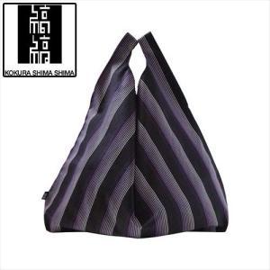 小倉織 縞縞 シンプルバッグ(パッケージ付き) 068 紫流|7top