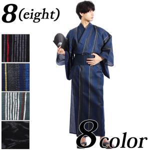 夏の風物詩 綿 単品 仕立て上がり メンズ 浴衣 が登場。   サイズ表記 M 身丈 約142cm ...