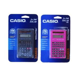 CASIO 関数電卓 fx-260 SOLAR ブラック&ピンク (2個セット)|82netshouten