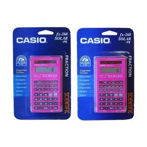 CASIO 関数電卓 fx-260 SOLAR ピンク (2個セット)|82netshouten