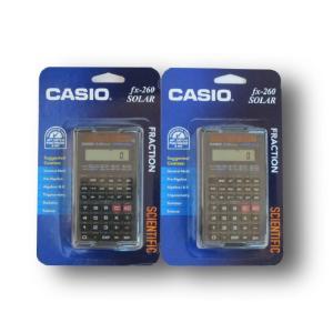 CASIO 関数電卓 fx-260 SOLAR ブラック (2個セット)|82netshouten