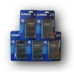 CASIO 関数電卓 fx-260 SOLAR ブラック (5個セット)|82netshouten