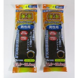 保温ブラックインソール(男性用)2枚入×2セット|82netshouten