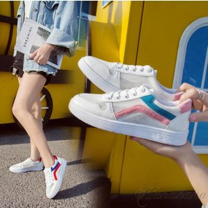 スニーカー レディース シューズ 靴 通気 美脚 カジュアル ローカット ウオーキング 軽量 春夏秋 軽量 歩きやすい|8787-store