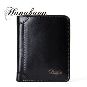 二つ折り 財布 メンズ財布 本革レザー 紳士サイフ ギフト プレゼントカード入れ 大容量 ブラック さいふ 当季|8787-store