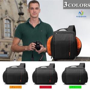一眼レフ カメラバッグ カメラケース  レンズ収納 インナーバッグ クッション アウトドア 大容量 ショルダーバッグ メンズバッグ 撥  水 防水 8787-store