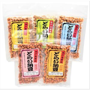 ソイビンフーズ 水戸名産 どらい納豆 味くらべ5種セット (計400g)|87da