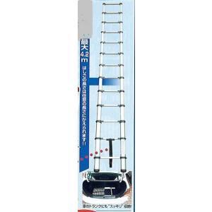 ロ【東京H22-11/25-144(定#11キ)シ】伸縮はしご  《トランクに入り最大4.2mまで伸びます》|8929055773