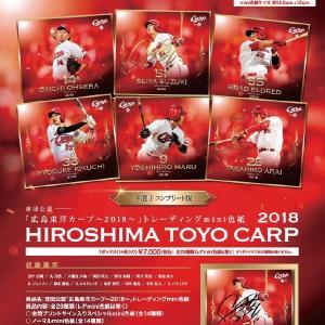 広島東洋カープ〜2018〜 トレーディングmini色紙 14パック入りBOX