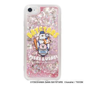 横浜DeNAベイスターズグッズ カナヘイの小動物コラボ グリッターiPhoneクリアケース