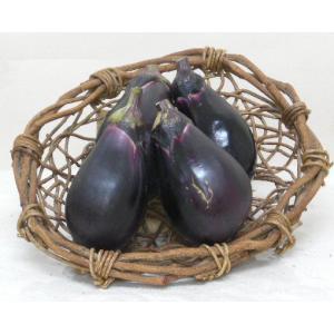 ナス 水なす 2袋のセット 有機肥料で作った新鮮野菜|8hana-gift