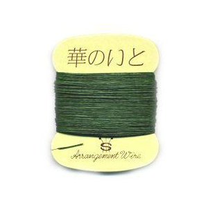 華のいと 糸巻きハリガネ(紙巻き緑) 1箱(50個入り)|8hana-gift