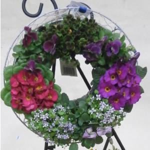 季節の花の寄植えリース(中)|8hana-gift