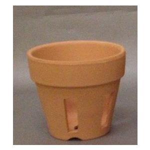 素焼き胴抜き鉢 3.5号 1個|8hana-gift
