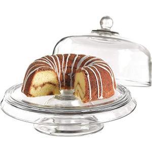・Anchor Hocking Presence 4-in-1 Glass Cake Set