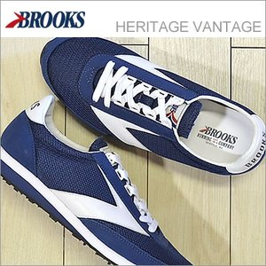 BROOKS ブルックス メンズ スニーカー BROOKS ブルックス HERITAGE VANTAGE ヘリテージ ヴァンテージ Navy Blue/White ネイビーブルー/ホワイト 928wing