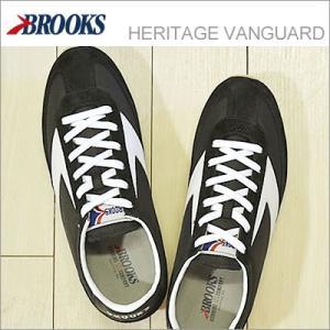 BROOKS ブルックス メンズ スニーカー HERITAGE VANGUARD ヘリテージ ヴァンガード Black/White ブラック/ホワイト 928wing