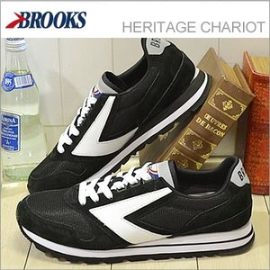 BROOKS ブルックス メンズ スニーカー HERITAGE CHARIOT ヘリテージ チャリオット Jet Black/White ジェットブラック/ホワイト 928wing