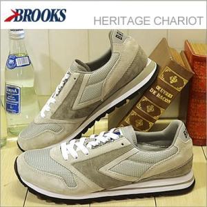 BROOKS ブルックス メンズ スニーカー HERITAGE CHARIOT ヘリテージ チャリオット Athletic Grey/White アスレチックグレー/ホワイト 928wing