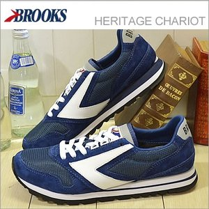 BROOKS ブルックス メンズ スニーカー HERITAGE CHARIOT ヘリテージ チャリオット Navy Blue/White ネイビーブルー/ホワイト 928wing
