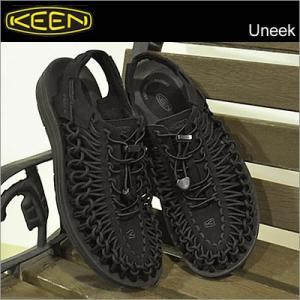 キーン KEEN サンダル メンズ レディース ユニーク Uneek Black/Black ブラック/ブラック 靴 シューズ|928wing