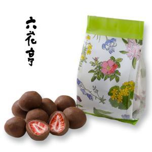 六花亭 ストロベリーチョコセット 袋タイプ  80g(ミルク・ホワイト) 北海道お土産 友人 お取り寄せ 贈り物 かわいい いちご ドライフルーツ ホワイトデー 946kitchen 03