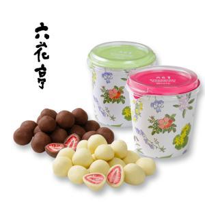 六花亭 ストロベリーチョコセット ホワイト&ミルクチョコ / ギフト プレゼント 北海道 お取り寄せ...